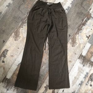 Poetry Pants - Poetry linen blend flowy pants -fits XS